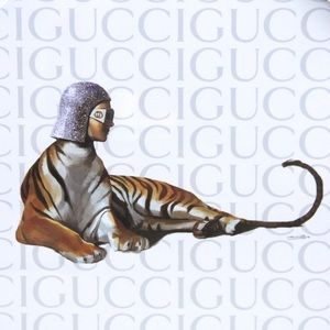Fairchild Paris Wall Art - Gucci x Fairchild Paris Tiger Framed Reprint